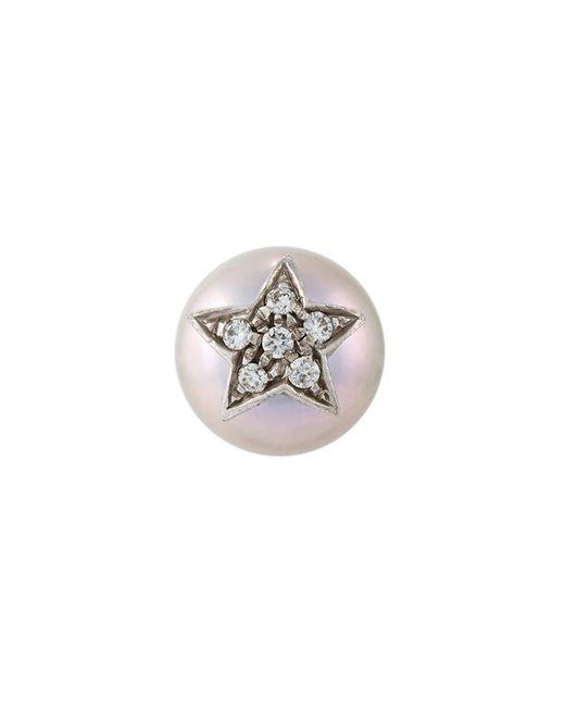 Carolina Bucci - Metallic 'superstellar' Pearl And Diamond Stud Earring - Lyst