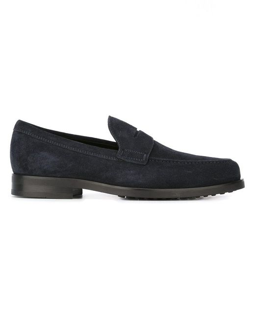 Tod's - Blue Classic Loafers for Men - Lyst