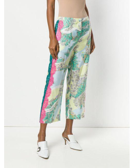 floral cropped trousers - Multicolour Emilio Pucci HFXy2