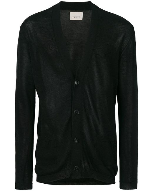 Laneus - Black V-neck Cardigan for Men - Lyst