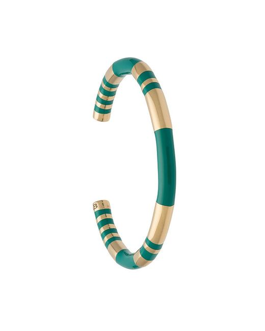 Aurelie Bidermann | Metallic Striped Cuff Bracelet | Lyst