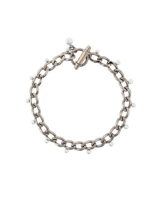 Givenchy - Metallic Obsedia Faux Pearl Necklace - Lyst