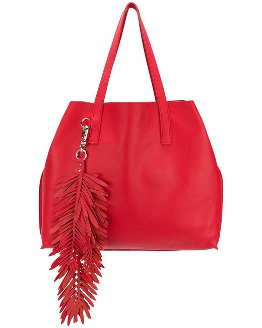 P.A.R.O.S.H. - Red Fringed Oversized Shopping Bag - Lyst