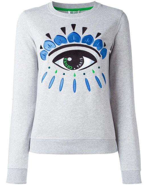 KENZO | Gray Eye Sweatshirt | Lyst