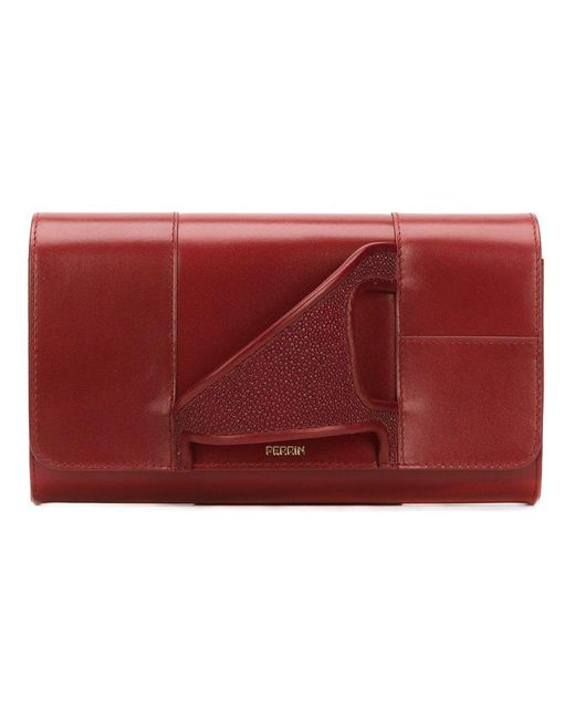 PERRIN Paris - Red 'asymmetric Glove' Clutch - Lyst