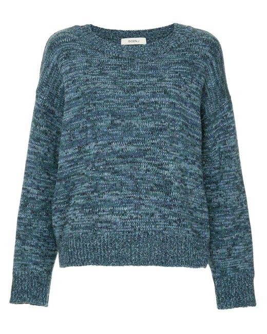Goen.J Blue Chunky Round Neck Sweater