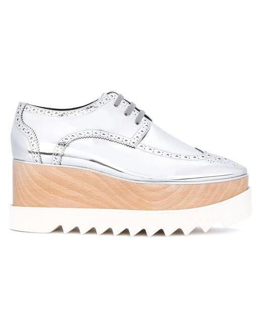 Stella McCartney - Gray Metallic Elyse Shoes - Lyst