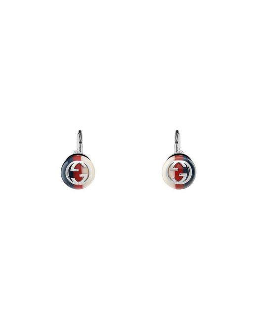 Gucci - Multicolor Sylvie Web Earrings - Lyst
