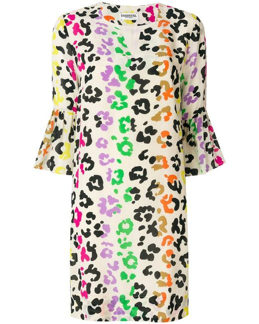 Essentiel Antwerp - Multicolor Leopard Print Dress - Lyst