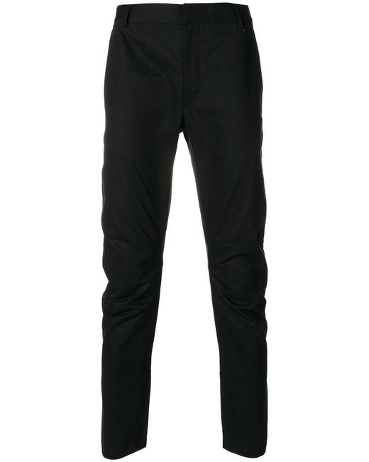 Lanvin - Black Ruched Detail Trousers for Men - Lyst