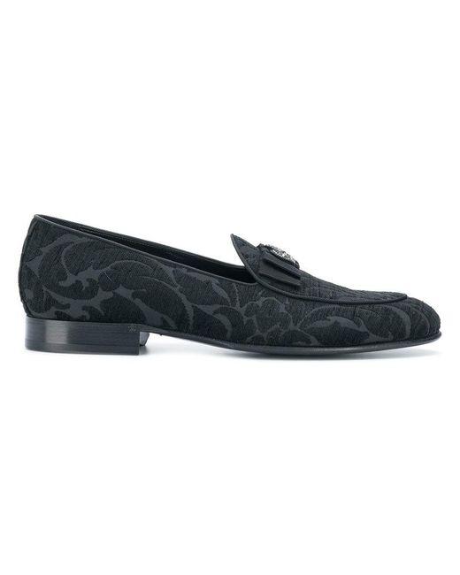 80dd9bc12 Lyst - Dolce & Gabbana Lucas Jacquard Slippers in Black for Men ...