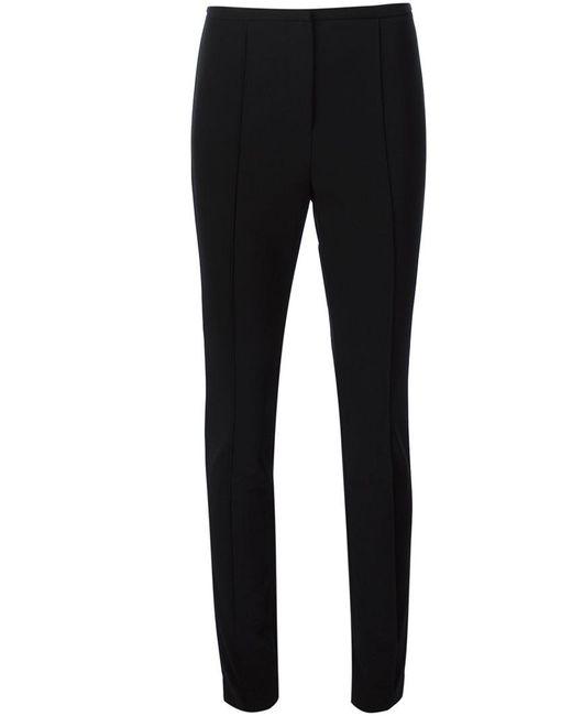 Alexander Wang   Black Seam Detailed Skinny Trousers   Lyst