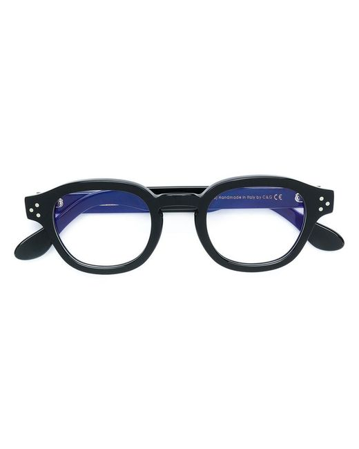 Cutler & Gross Round Framed Glasses in Black - Lyst