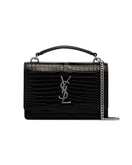 a0df23c0ef1 Lyst - Mini sac porté épaule Sunset Saint Laurent en coloris Noir