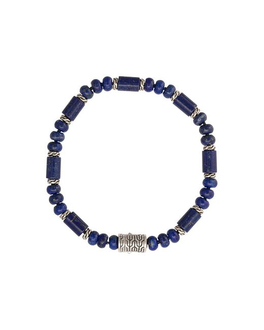John Hardy - Blue Silver Classic Chain Lapis Lazuli Bead Bracelet for Men - Lyst
