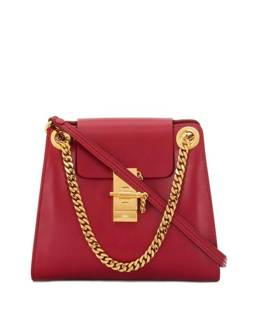 Chloé Small Annie Shoulder Bag in het Red