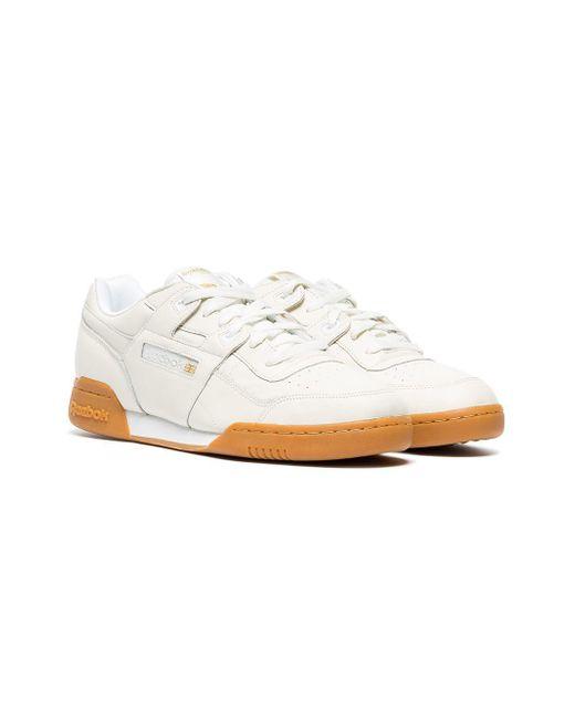 409de41203c4 ... Reebok - White Workout Plus Leather Sneakers for Men - Lyst ...