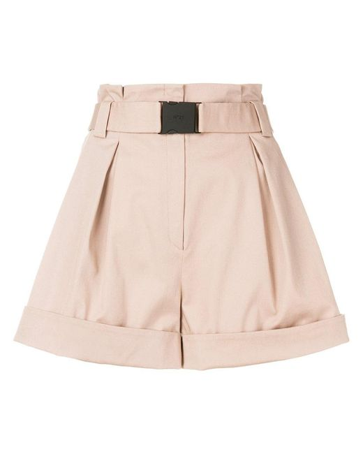 N°21 | Natural Belted High-waisted Shorts | Lyst