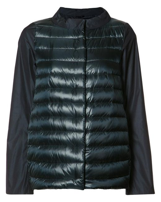 Herno | Blue - High Neck Down Jacket - Women - Cotton/feather Down/polyamide/feather - 48 | Lyst