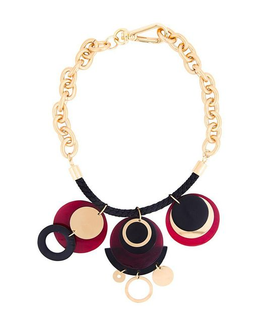 Marni | Metallic Horn Disc Pendant Necklace | Lyst