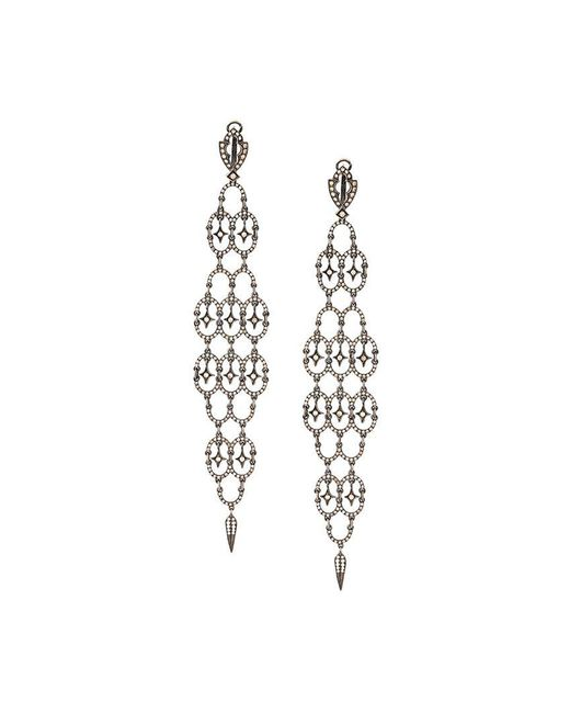 Loree Rodkin - Black Diamond Chandelier Earrings - Lyst