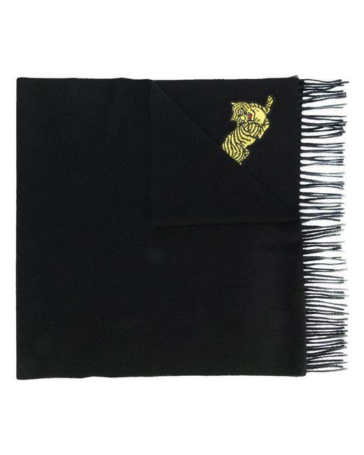 KENZO - Black Jumping Tiger Scarf - Lyst