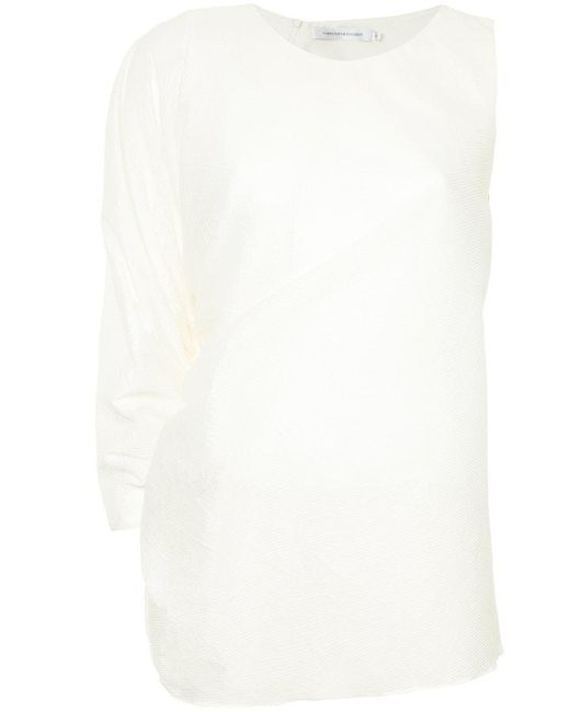 Christopher Esber - White Single Sleeve Gathered Top - Lyst