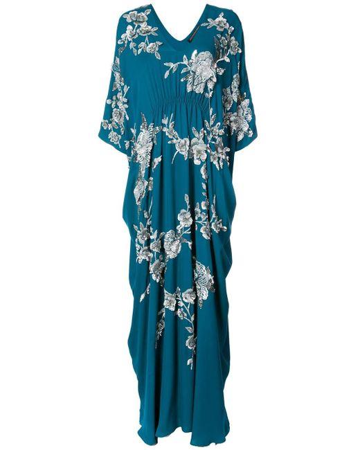 Josie Natori - Blue Vestido caftán Cocoon - Lyst