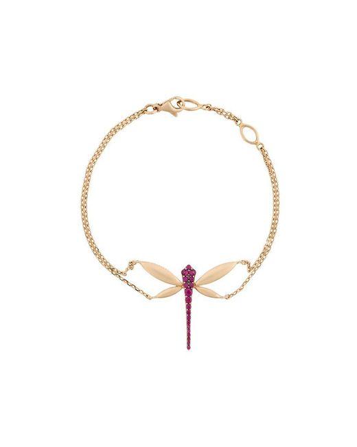 Anapsara - Metallic Ruby Embellished Dragonfly Bracelet - Lyst