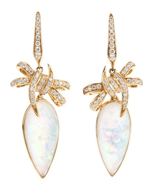 Stephen Webster - Metallic 'forget Me Knot' Quartz And Diamond Bow Earrings - Lyst