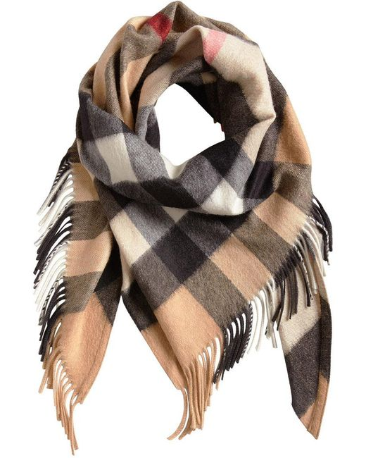 Burberry - Multicolor Cashmere Check Bandana - Lyst