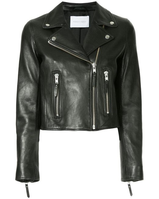Nobody Denim - Black Classic Leather Jacket Blk Leather - Lyst