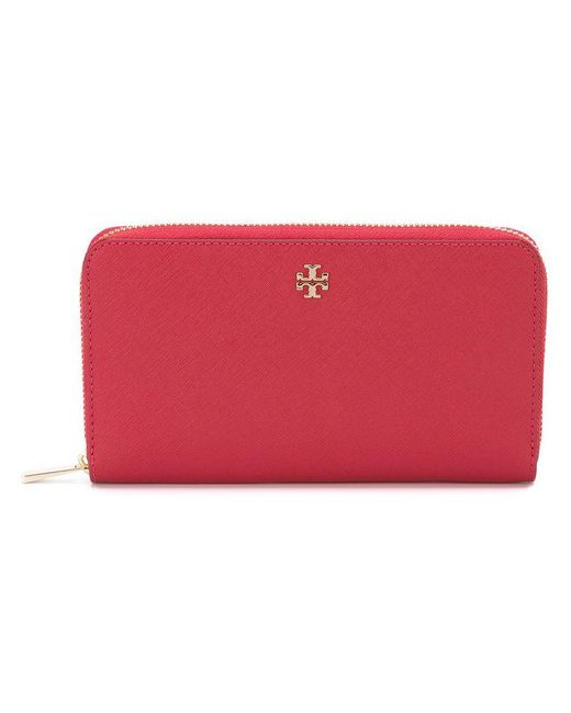 Tory Burch - Pink 'robinson' Continental Wallet - Lyst