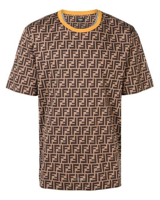 Fendi - Multicolor T-Shirt mit FF-Logo for Men - Lyst