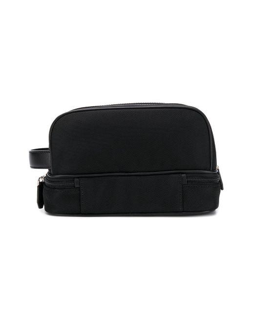 6afb64905a ... Bally - Black Logo Plaque Wash Bag for Men - Lyst ...