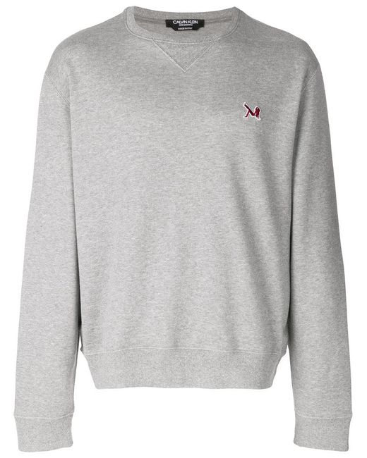 CALVIN KLEIN 205W39NYC - Gray Brooke Shields Embroidered Logo Sweatshirt for Men - Lyst