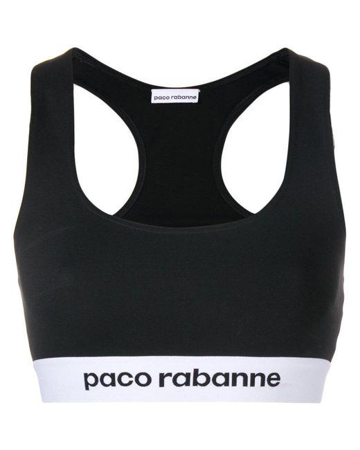 Paco Rabanne - Black Logo Bralet - Lyst