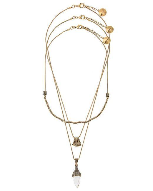 Camila Klein - Metallic 3 Necklaces Set - Lyst