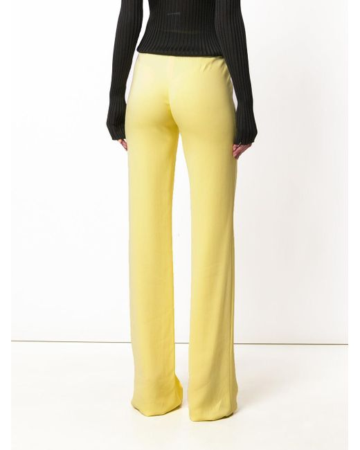 flared wide-leg trousers - Yellow & Orange Emilio Pucci 3vcqioRXz