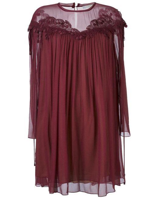 Chloé | Purple Cherry Guipure Dress | Lyst