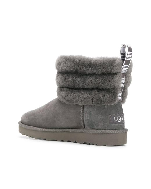 f60ecca68f0 UGG Ugg Classic Mini Fluff Quilted Boot in Gray - Save 47% - Lyst