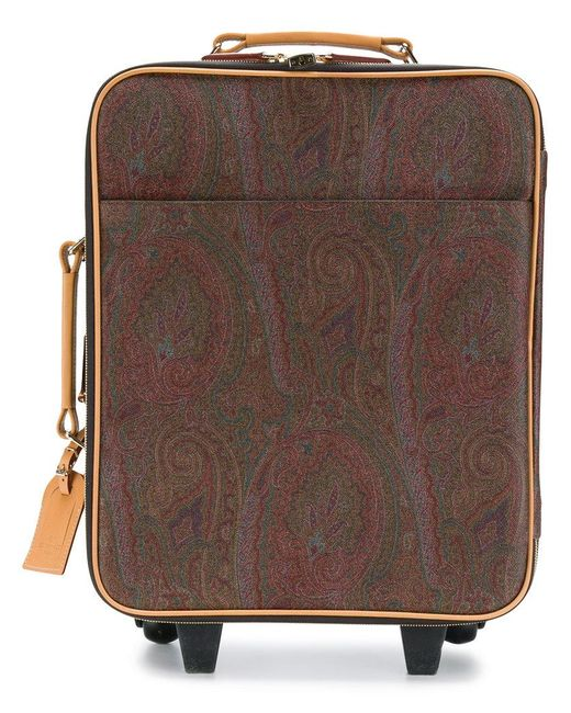 Etro - Brown Paisley Print Suitcase for Men - Lyst