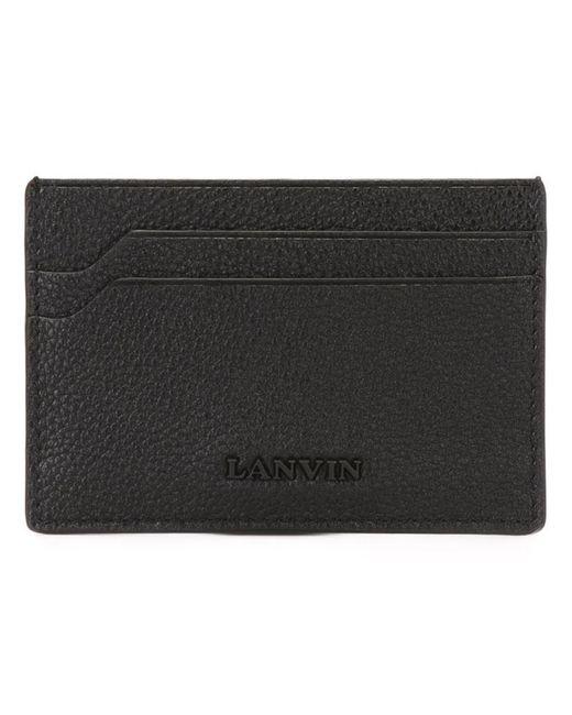 Lanvin - Black Grailed Classic Cardholder for Men - Lyst