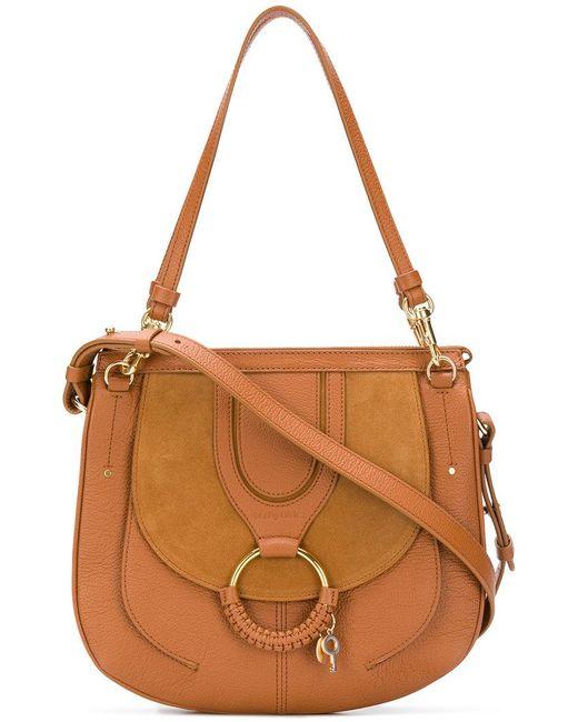 See By Chloé - Brown Women's Medium Hana Leather Saddle Bag - Caramello - Lyst