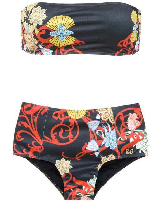 Brigitte Bardot - Black Off The Shoulder Bikini Set - Lyst