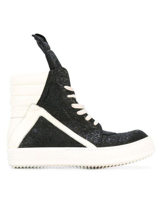 Rick Owens | Black Geobasket Hi-top Sneakers for Men | Lyst