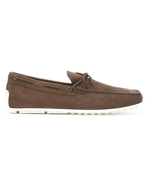 Tod's | Brown Tie-front Loafers for Men | Lyst
