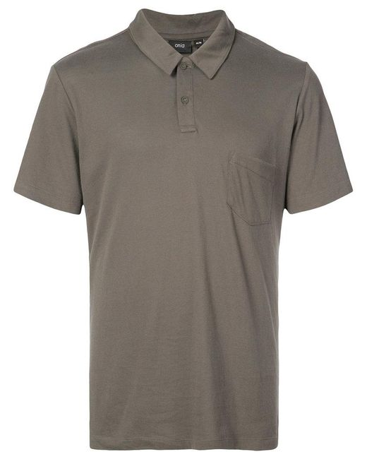 Onia - Gray Eric Polo Top for Men - Lyst