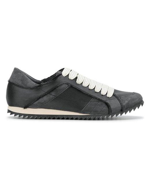 Pedro Garcia - Gray Raw Edge Low Top Sneakers - Lyst
