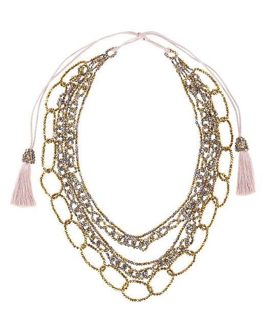 Night Market | Metallic Tassel & Chain Necklace | Lyst